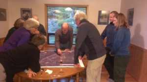 These homeowners from a Firewise Community in Northwest Washington came together at a late winter potluck and planning meeting to prioritize and plan Firewise projects for the following spring.