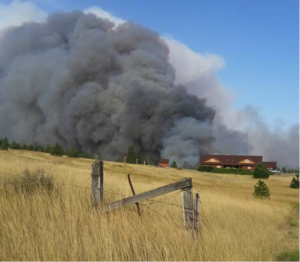 Hwy 24, Lincoln County, Hart Road Fire. Photo courtesy Lincoln County Sheriff's Department